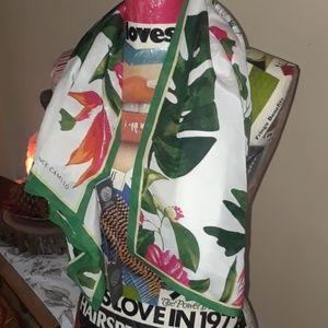 100% silk Vince Camuto botanical scarf NWT